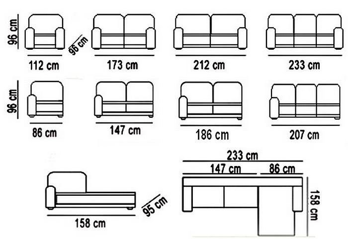 Salotto divano angolare moderno in pelle made in italy ebay for Misure divani